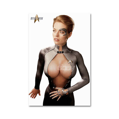 1509 # Fridge Locker Magnet Cute Jeri Ryan Blue Dress Star Trek Actress