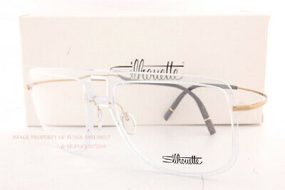 Brand New Silhouette Eyeglass Frames 20 Years TMA 2917 1020 Sunray Gold 56mm