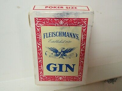 Vtg. Promotional Fleischmann's Gin / Hoyle Deck of Playing Cards