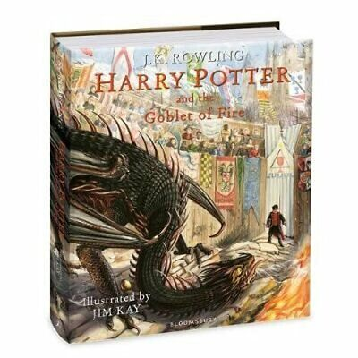 Harry Potter and the Goblet of Fire: Illustrated Edition by J.K. Rowling: New