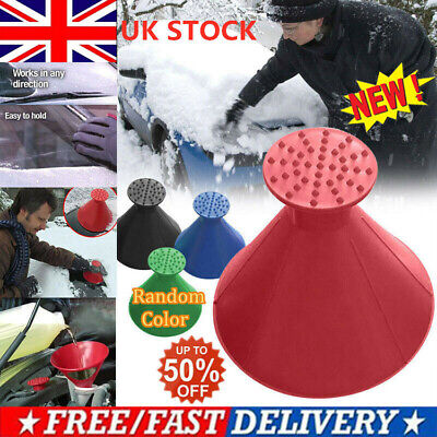 Magical Car Windshield Ice Snow Remover Scraper Tool Cone Shaped Round Funnel dm