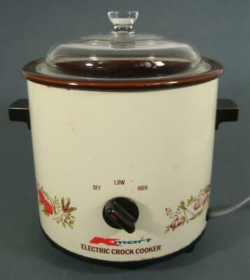 Retro/vintage 70s K Mart slow cooker electric crock pot- 3.5 litre medium size