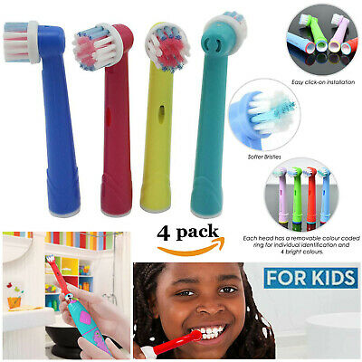 Oral B/Braun Electric Toothbrush Heads Kids Fun Children Replacement Heads 4Pack