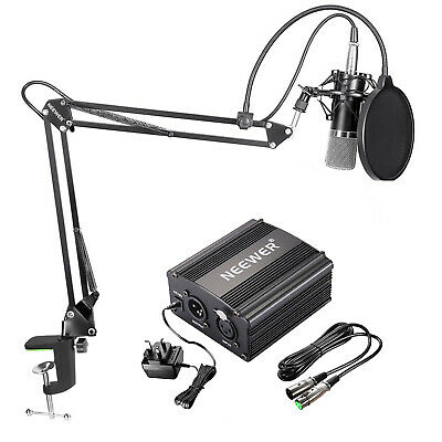 Neewer NW-700 Condenser Microphone Kit - Black Mic for Home Studio Recording