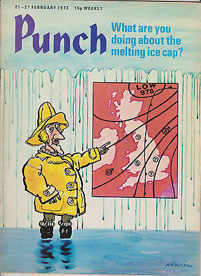 Punch Magazine Vintage Old 21 February 1973 Birthday Hewison Mini Advert