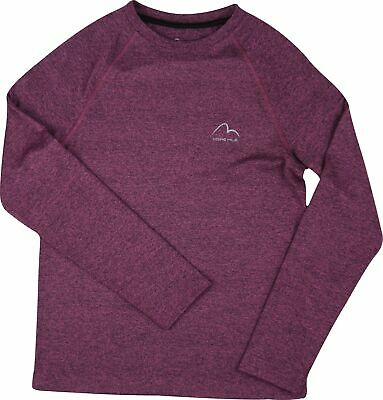 More Mile Junior Running Top Purple Long Sleeve Sports T-Shirt Girls Ages 7-16