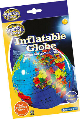 30cm Inflatable Globe Map Ball World Earth Geography Blow Up Atlas Education Toy