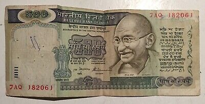 500 Rs Rare Banknote Nice Collectible – Indian Gandhi Marching On Back