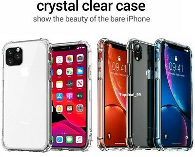 Case for iPhone 8 7 6 Plus XR XS MAX 11 PRO ShockProof Soft Cover TPU Silicone