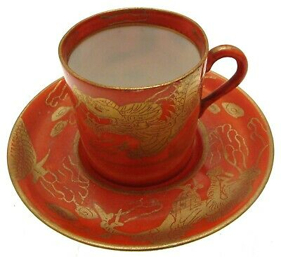 Japanese Dragon Ware Coffee Cup & Saucer CLT393