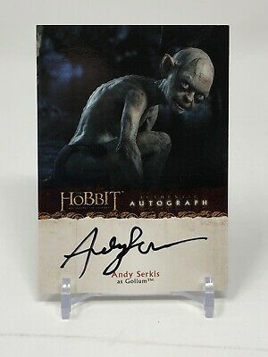 2014 Cryptozoic Hobbit Unexpected Journey AUTO Andy Serkis Gollum Lord Of Rings