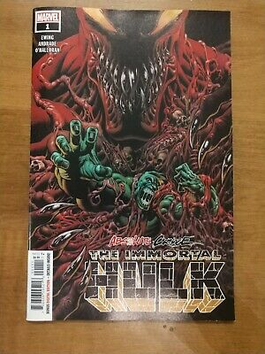 Absolute Carnage Immortal Hulk #1 Main Cover First Print Marvel Comics
