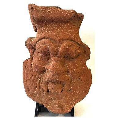 Large Egyptian Clay Figure of Bes.