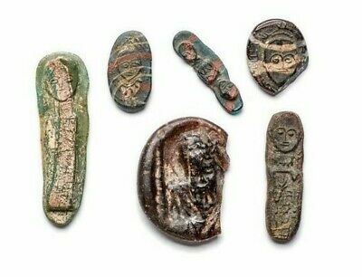 Group of 6 Roman / Islamic Glass Seals/weights