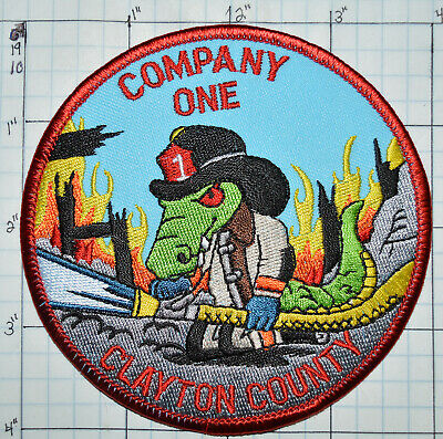 Georgia, Clayton County Fire Dept Company One 1 Patch