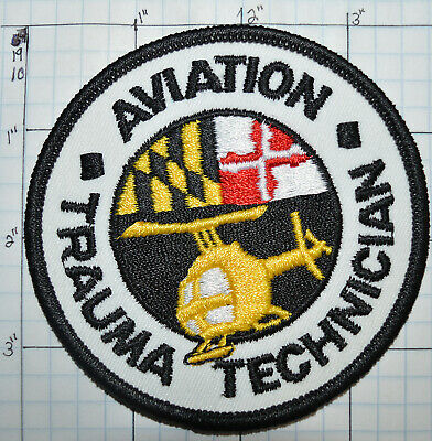 Maryland Aviation Trauma Technician Helicopter Emergency Medical Emt Patch