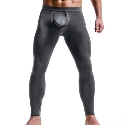 Men's Long johns Thermal Removable Pouch Sexy Underwear Stretchy Warm Trousers