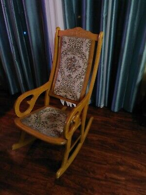 Vintage solid wood real rocking chair