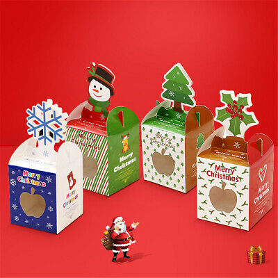 Gift Package Santa Claus Xmas Bags Paper Carrier Christmas Decoration Candy Box
