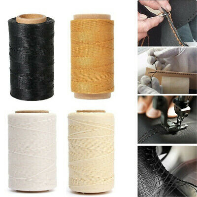 ❤ 30m/roll 150D Waxed Thread Cotton Cord Sewing Line Handicraft For Leather UK