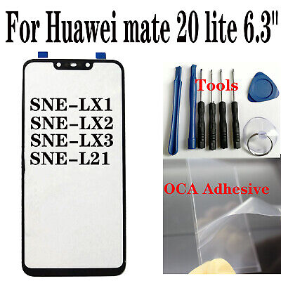 For Huawei mate 20 lite SNE-LX1 SNE-LX2 LX3 L21 Outer Front Screen Glass Lens