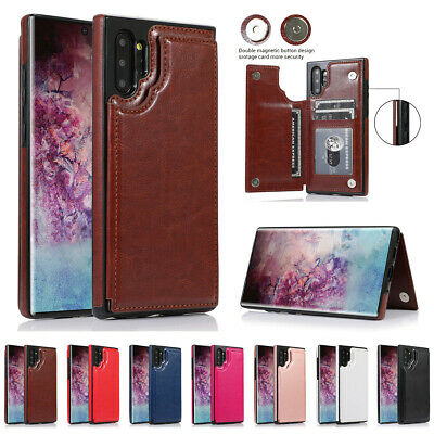 For Samsung Galaxy Note10 Card Holder Wallet Flip Leather Shockproof Case Cover