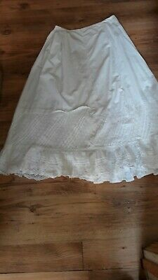 Victorian petticoat .edwardian .early 1900 Century  .lovely hand worked frill