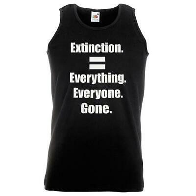 Unisex Black Extinction Rebellion Vest Everything Gone Environment Protest