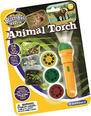 Children's Animal Torch And Projector Toy - Project Wildlife Nature Photos New