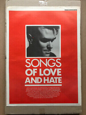 MORRISSEY VIVA HATE - SONGS OF LOVE AND HATE POSTER SIZED original music press a