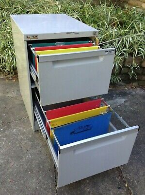 Filing Cabinet  - ELITE BUILT  - 2 drawer w/Key -  Comm Quality -  gc  -  GREY