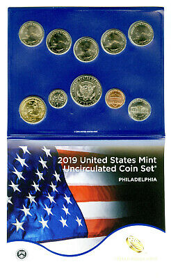 2019 P Us Mint Uncirculated 10 Coin Philadelphia Set Sealed From 19Rj - No Box