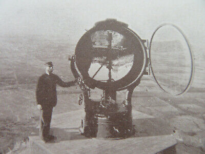 "1890's World's Largest Search Light Mt Lowe, CA. Real Photo Card (2 3/4""x4 1/2"")"