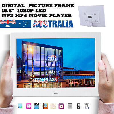 """15.6"""" Digital Photo Frames HD LED Picture Frame Day Clock Mp4 Movie video Player"""