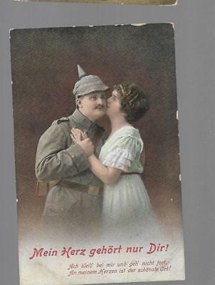 pk31716:Military WWI Postcard-My Heart Belongs Only to You Romance Greeting