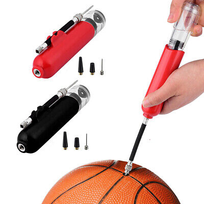 Fast Inflating Hand Air Pump With Needle Adapter For Ball Football Sports New