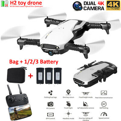 Drone RC Drone with 2.4G WIFI FPV 1080P/4K HD Camera Foldable RC Quadcopter UK
