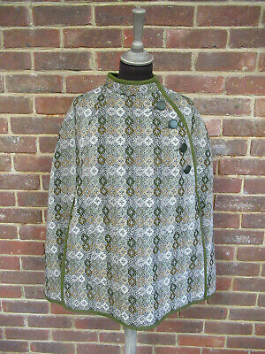 Vintage Coracle Clothes Welsh Woolens Poncho Cape Size M/L