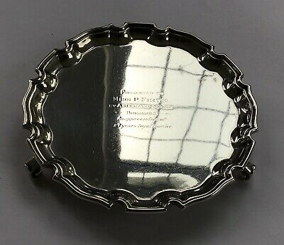Vintage Georgian Style Solid Silver Salver / Tray - Hallmarked 1949 - 207.0 g