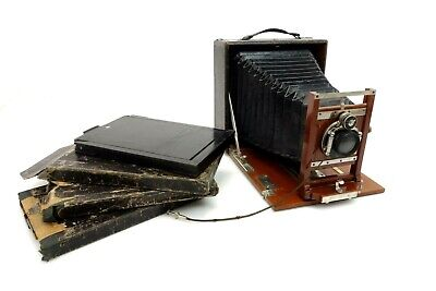 Ernemann Plate Camera Detective Aplanat f8 Nr2 13x18 cm with Accessories jt017