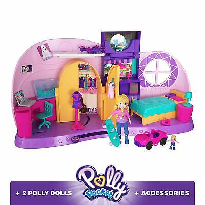 Polly Pocket Go Tiny! Room Playset Girls Dolls Toy Play Gift Set Figures