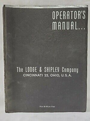 Lodge & Shipley Model X Lathe Operators Manual