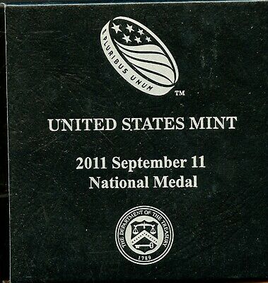 EMPTY U.S. Mint 2011 September 11 National Medal Coin Box & CoA BO476