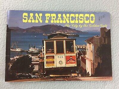 San Francisco City By The Golden Gate Souvenir Brochure Cable Car Vintage 1974
