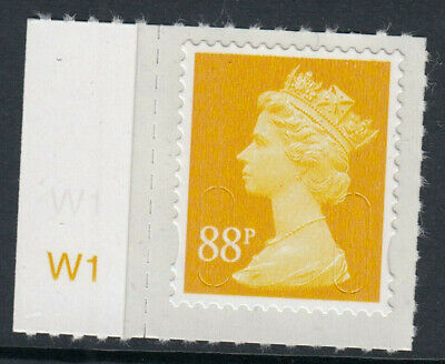 GB 2013 88p SELF ADHESIVE MACHIN CODE M13L CYLINDER W1 on SELVEDGE MNH