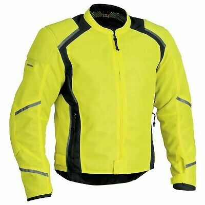 Nos Firstgear 515782 Mesh Tex Jacket Dayglo Black Size Mens Med