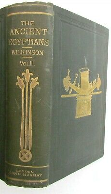 ANCIENT EGYPTIANS by WILKINSON Vol. III antique 1878 ILLUSTRATED