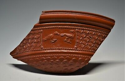 Beautiful Large Fragment Of A Roman Samian Ware Bowl: Two Doves. Gaul, Ad 43-68