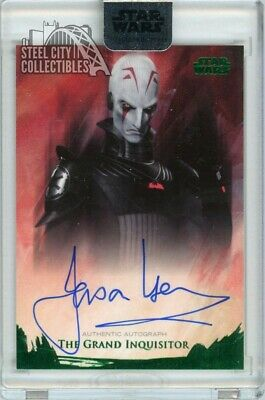 Jason Isaacs Grand Inquisitor 2018 Topps Star Wars Stellar Signatures Auto 10/20