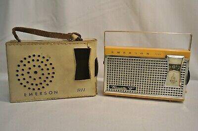 "Vintage Emerson 911 Eldorado Nevabreak 6.5"" Pocket Radio Transistor 9"